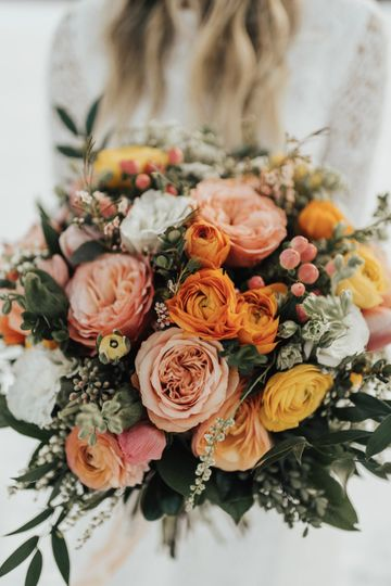 Bright colors bouquet