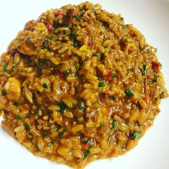 Jambalaya risotto