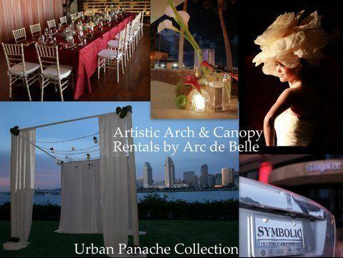 Urban Panache Collection Arc de Belle's Modern Wedding Canopy Rentals Southern California Phoenix...
