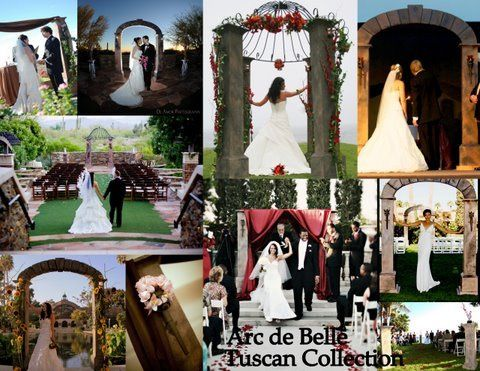 Arc de Belle's Tuscan Collection featuring Architectural Wedding Arch & Canopy Rentals Unique...