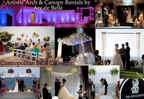 Arc de Belle's Modern Wedding Arch Rentals & Canopies Plexiglass Acrylic Wedding Chuppah Photo...