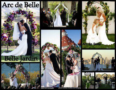 Arc de Belle's Wrought Iron Wedding Arch rentals Garden Wedding Beach wedding Vineyard wedding Photo...