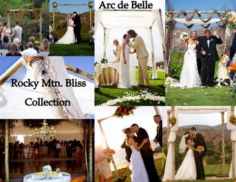 Arc de Belle's Fully draped traditional Wedding Chuppah & Arch Rentals white, taupe,Photo credit