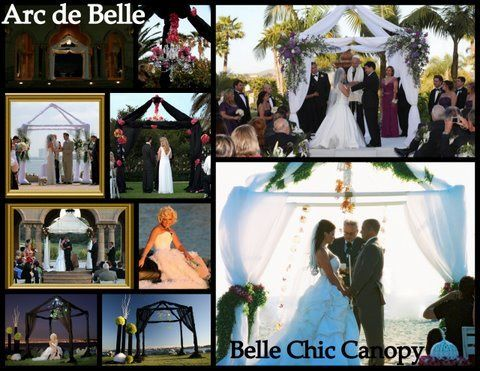 Arc de Belle's Rocky Mountain Bliss Canopy, chuppah & arch Rentals organic, birdcage wedding,...