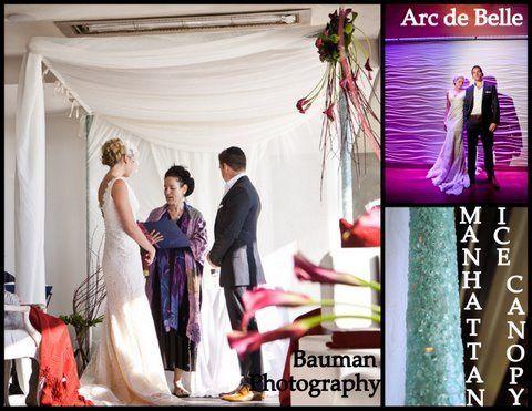 Arc de Belle's Romantic Isle Wedding Canopy & Arch Chuppah Rentals Tropical Beach Bamboo Nautical...