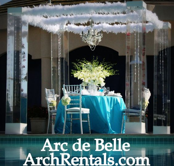 Modern Glass Wedding Chuppah Canopy Arch Rentals Chic, Luxe, Bling Photo credit Bauman Photography...