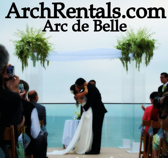 Arc de Belle's Modern Glass wedding Arch Canopy & chuppah Rentals, Miami Chic, Luxe, Bling Photo...