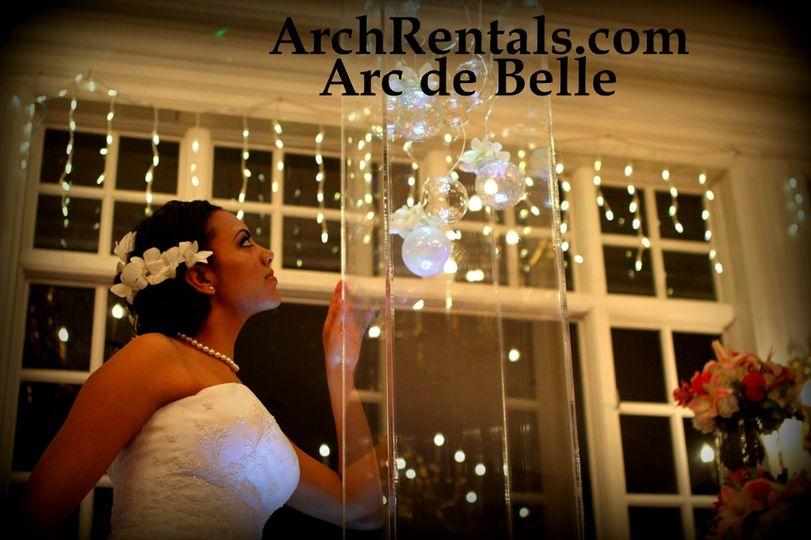 Arc de Belle Modern Acrylic Wedding Chuppah,Canopy Rentals  Available in Los Angeles Orange County...