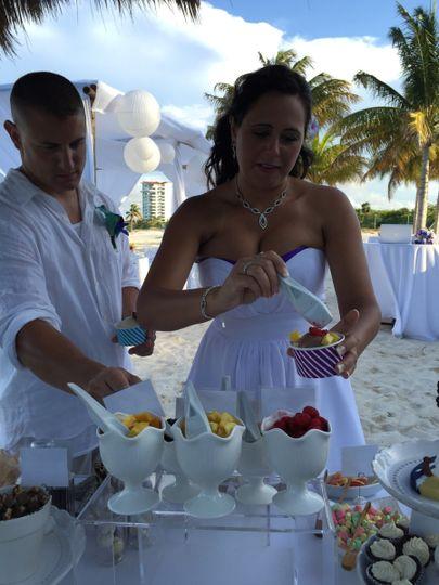 beach wedding cancun gelato