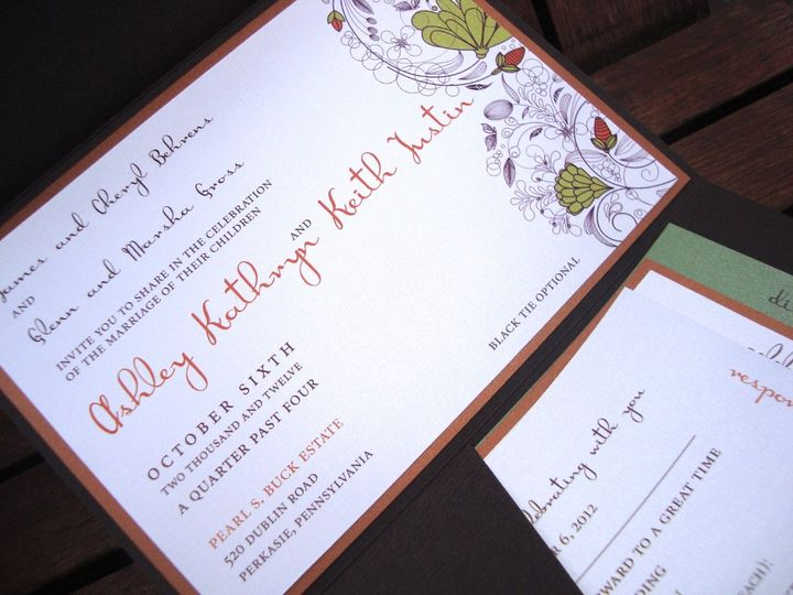 Tmx 1363717759113 DSC00822 Flemington wedding invitation