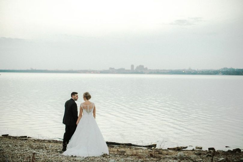 Couple Portrait Near River © Brooke Alaina Photography