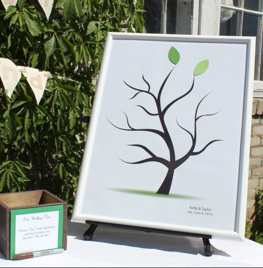 A perfect guest book alternative which you can display in your home forever. Guests sign individual...