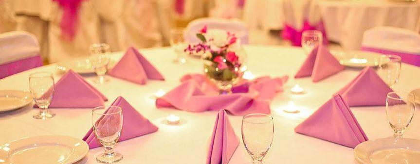 Colored linen napkins