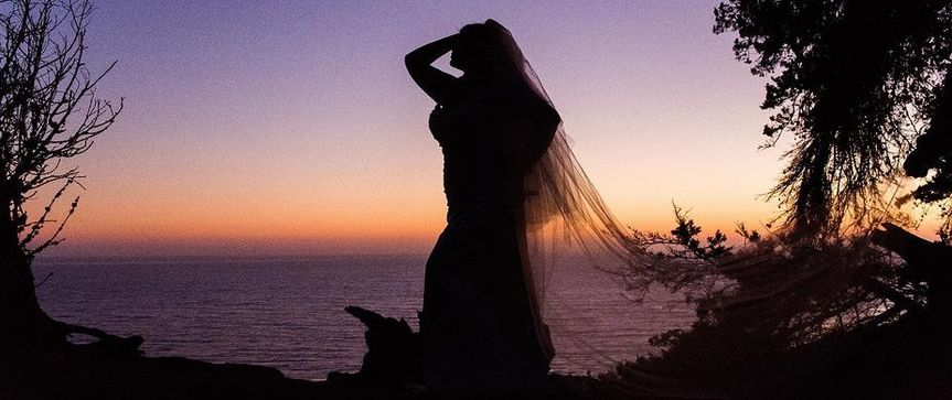 Create a beautiful silhouette! Wedding gown & veil at Della Curva. Southern California's first &...