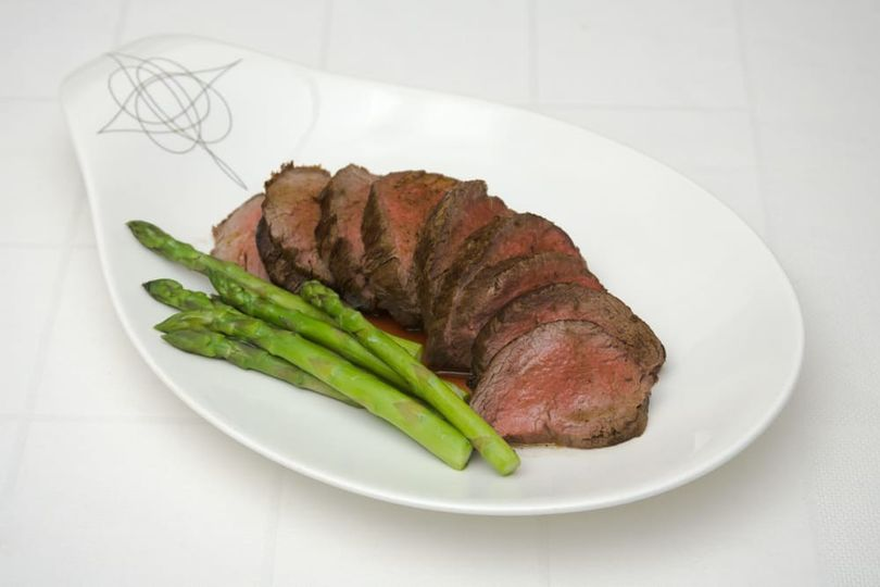 Beef Tenderloin with a Caramelized Shallot and Red Wine Reduction