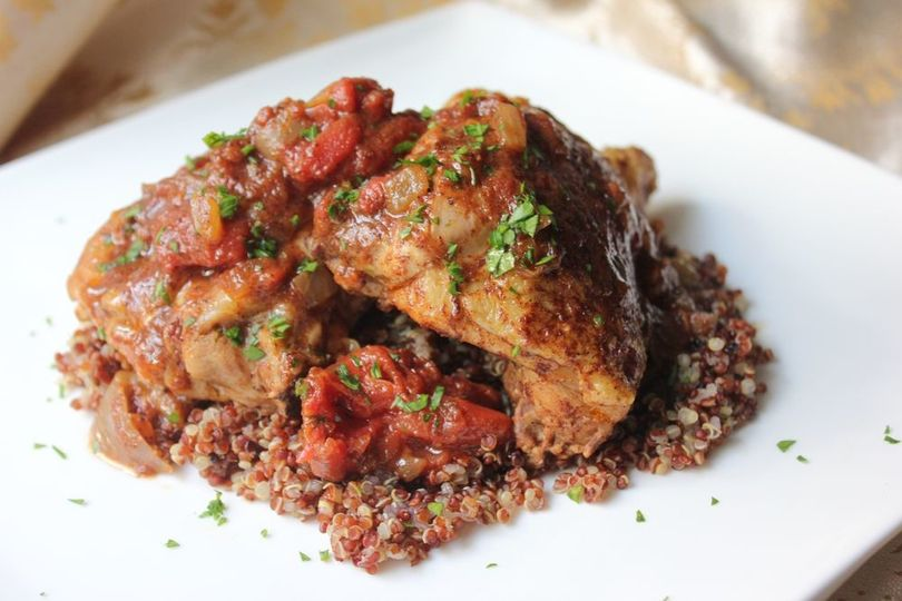 Moroccan Chicken on a bed of Couscous
