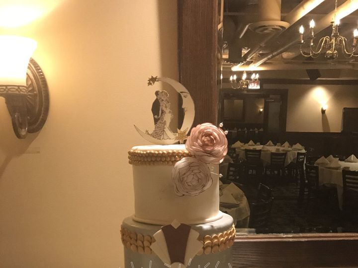 Tmx 1516217877 75baca4564f277e3 1516217874 3d62178491d94da0 1516217857673 1 Art Deco Wedding C Dracut, Massachusetts wedding cake