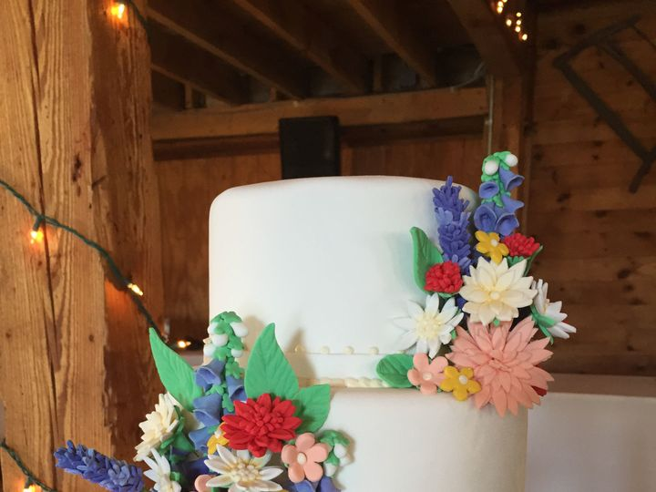 Tmx 1516217938 A14fe8c7da184ace 1516217934 Ab97213d2c40d300 1516217857708 47 Wild Flowers Wedd Dracut, Massachusetts wedding cake