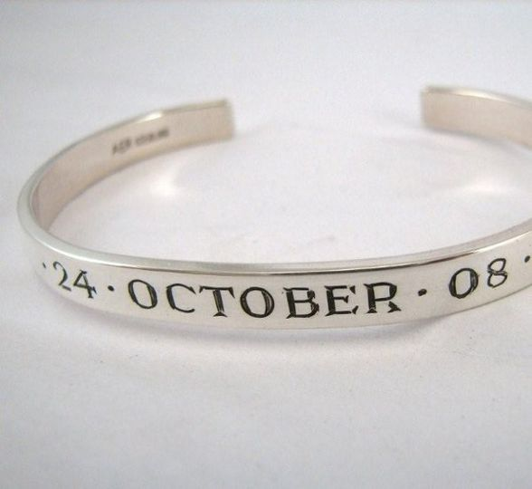 Have the date, name of your beloved, place of the wedding or even key words to your wedding dance...