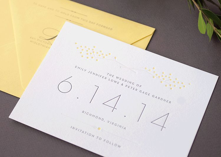 Light & airy save-the-date