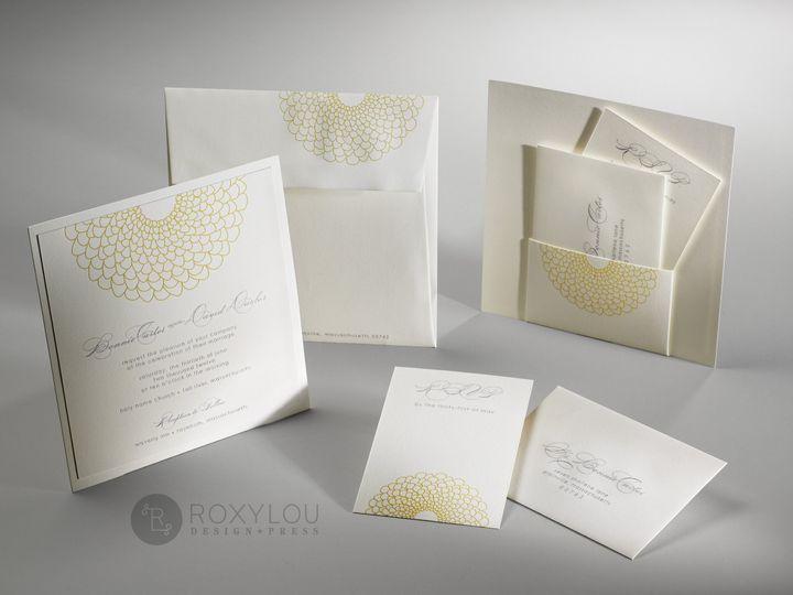 Tmx 1374504699234 Blossomyellowgroup North Attleboro, MA wedding invitation