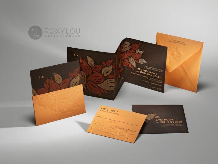 Tmx 1374504953524 Foliagebrowngroup North Attleboro, MA wedding invitation