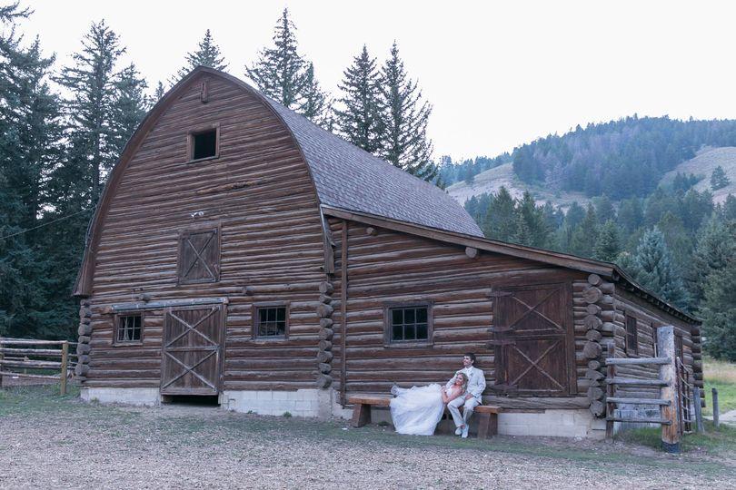 Back of barn backdrop