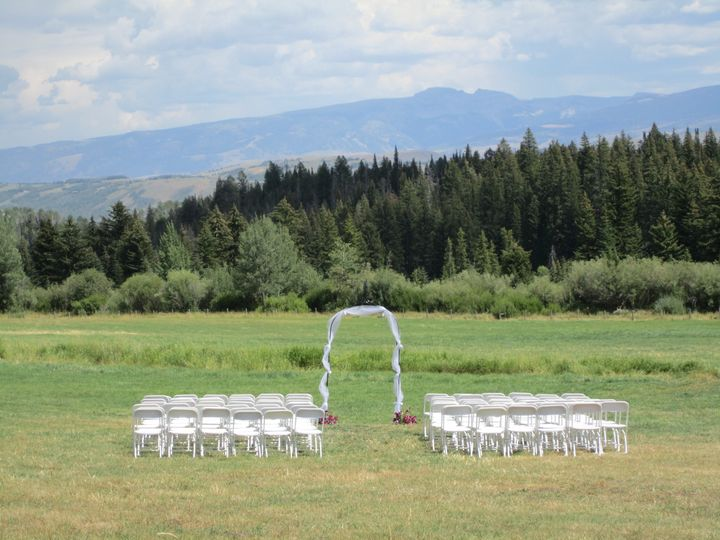 Ceremony in the hayfield