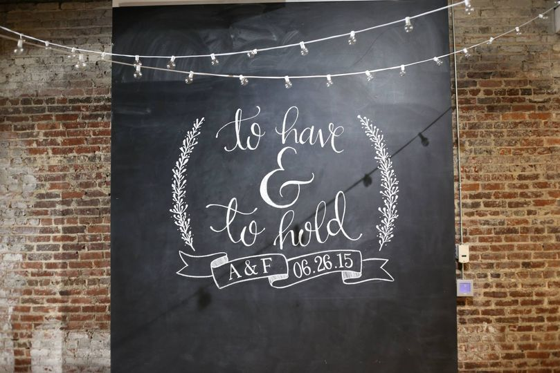 Large Chalkboard Wall Design at The Stockroom in Raleigh.