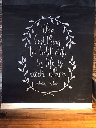 Large Chalkboard Wall Design - Quote from Audrey Hepburn