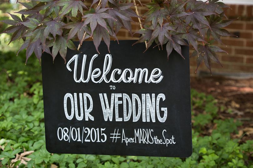 Welcome to Our Wedding Chalkboard