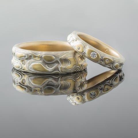 Topographical Mokume Gane Ring