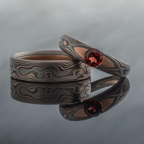 Vintage Style Mokume Gane Ring