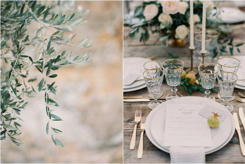 natural wedding decor wooden farm table rustic ide