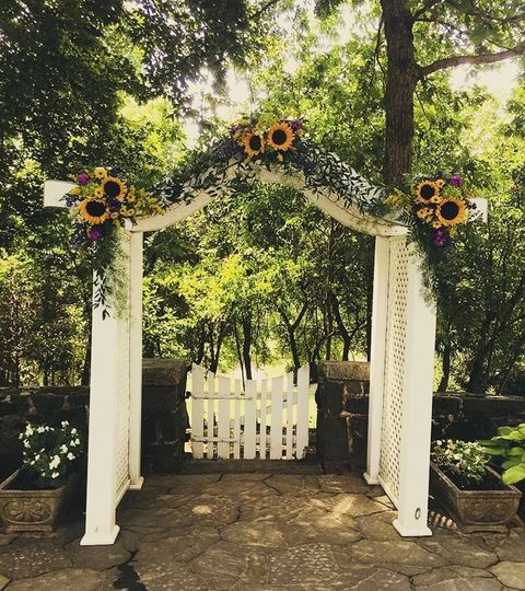 Sunflower arch