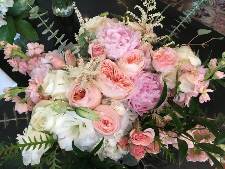 Pink lush flowers