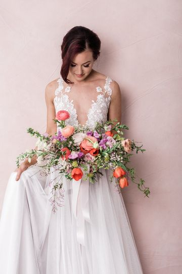 Beautiful gowns and flowers