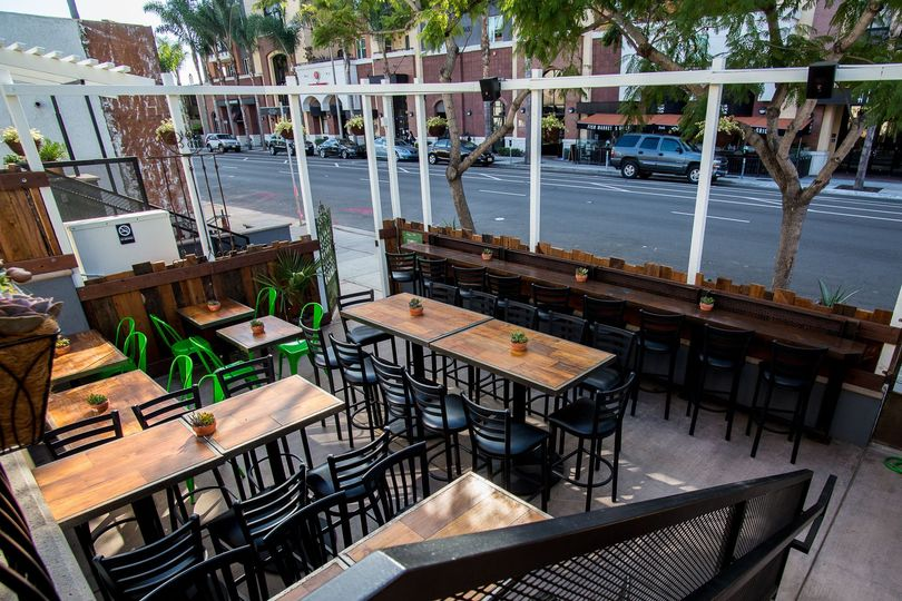 "Private Street Side Patio: Perfect for 20-70 Guests, 70"" Outdoor TV, Patio Heaters, Full Bar &..."
