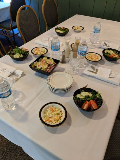 Before the Entrees are served ,great for business luncheon.