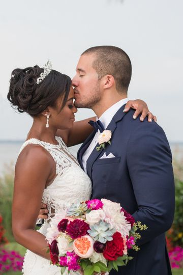Kiss after ceremony