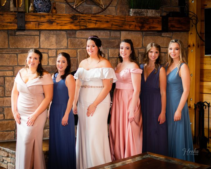 The bride and her party