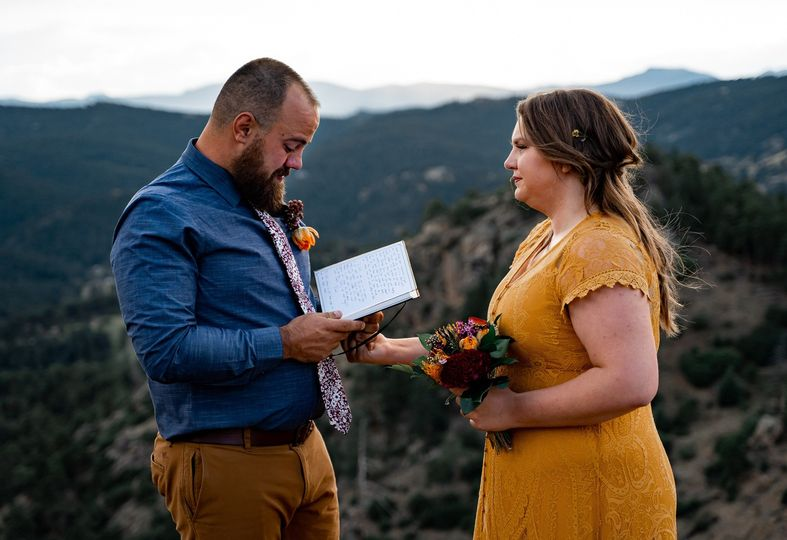 Exchanging handwritten vows