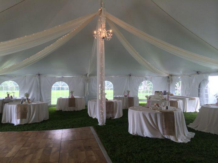 Elegant tent draping