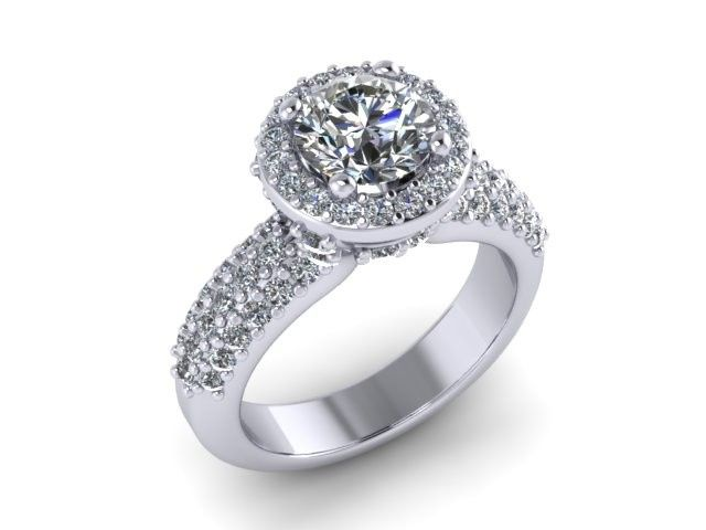 Engagement ring with large stone