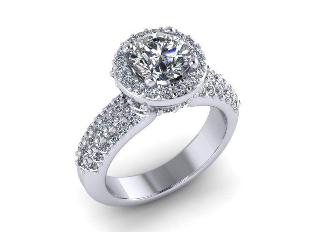 Tmx 1397677413427 3rowhalo Norfolk, VA wedding jewelry