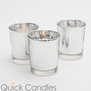 Mercury Glass Candle Holders Gold, Rose Gold and Silver