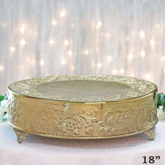 """18"""" Gold Pleateau"""