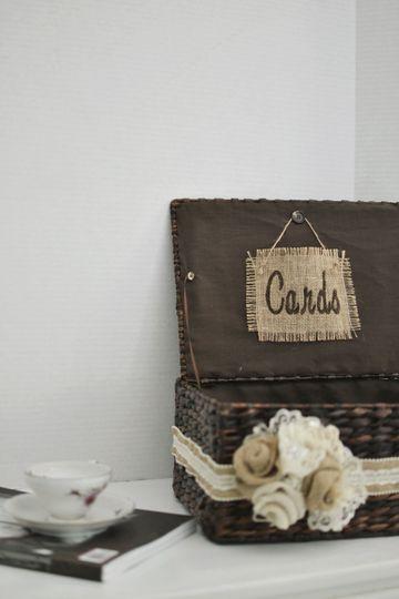 Rustic Card Basket