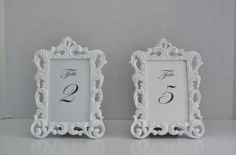 White & Gold Baroque Frames