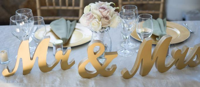 Gold, Silver & White  Mr. & Mrs.